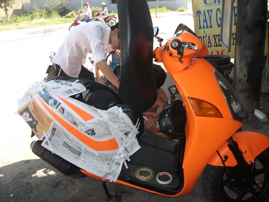 thủ tục đổi màu sơn xe máy không chính chủ